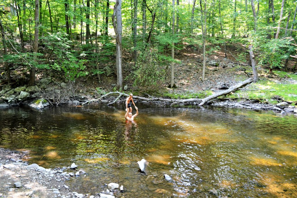 and cool off by the creek